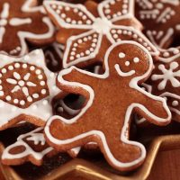 Gingerbread man that is iced