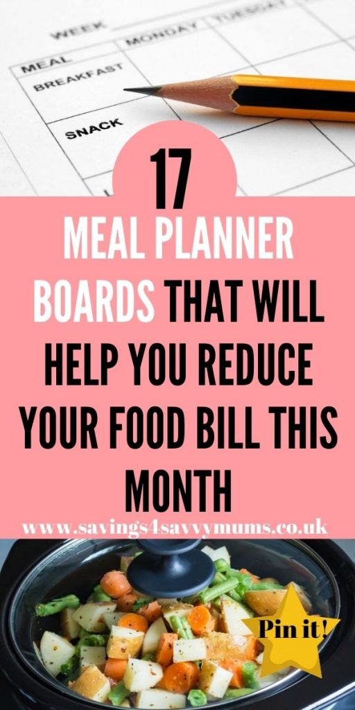 These are the best meal planner boards that can help you to save money off your food bill and reduce your outgoings by Laura at Savings 4 Savvy Mums