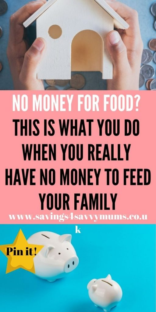 If you're worried about having no money for food this month then please don't despair. Don't go hungry. We explain how you can get help by Laura at Savings 4 Savvy Mums