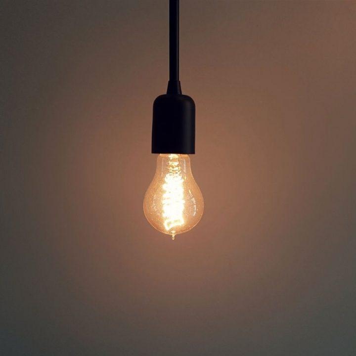 Lightbulb on a background