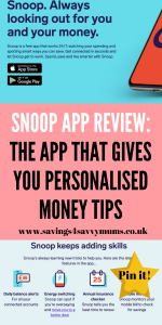 Try the Snoop app now which helps you to control your money. It's much more than a budgeting app and can help you save £1500 a year.