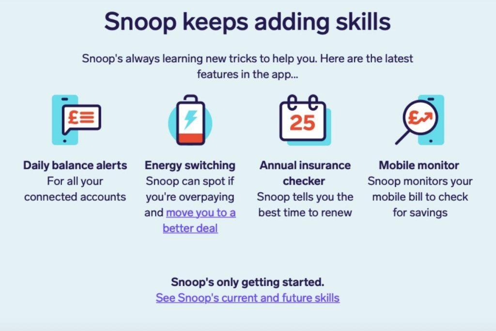 Snoop app features