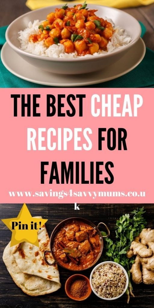 Here are the best cheap recipes for families that you can use when you're cooking on a budget. All recipes are under £1 a head by Laura at Savings 4 Savvy Mums
