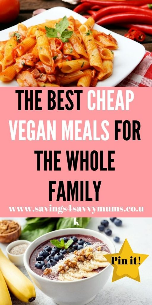 These are the best cheap vegan meals that come in at under £1 a head. They are easy to make and can help you save money by Laura at Savings