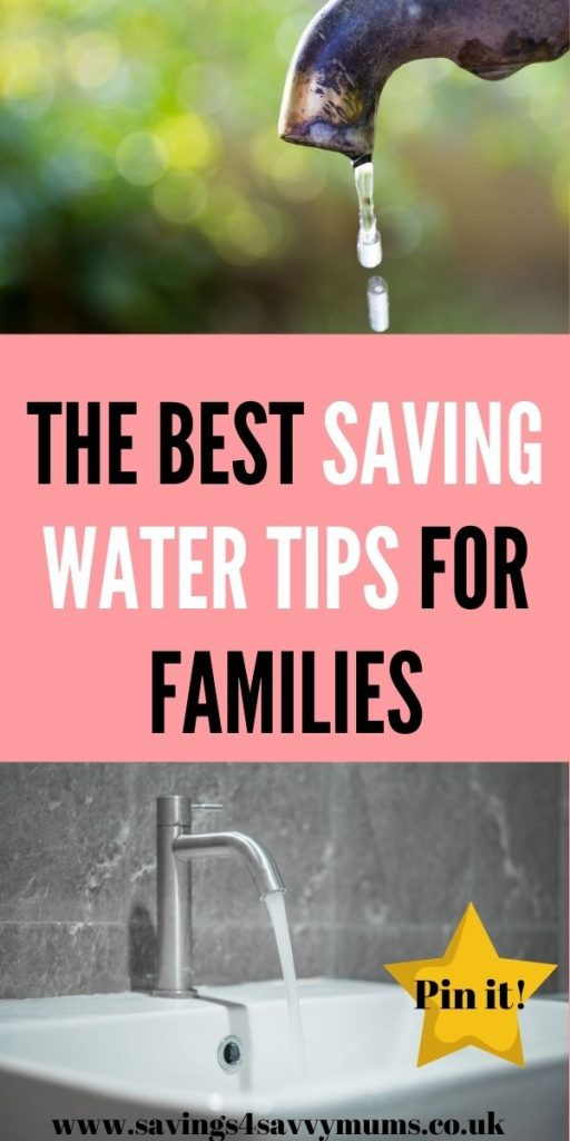 These are the best saving water tips for families that need to save money. This walks you through saving money as a family by Laura at Savings 4 Savvy Mums