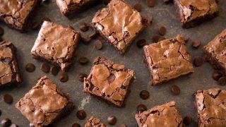 Chocolate brownie is squares