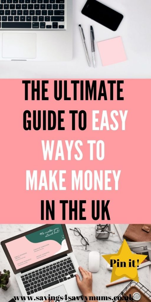 This is the best guide to easy ways to make money in the UK from home. We've included everything from blogging to survey sites by Laura at Savings 4 Savvy Mums