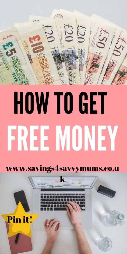 This is how to get free money in the UK. We have included everything that we use to make extra money every month from home by Laura at Savings 4 Savvy Mums